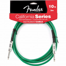 CABO FENDER CALIFORNIA SERIES 3M P10 X P10 VERDE
