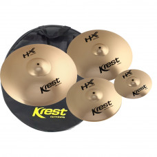 KIT DE PRATOS KREST - HXSET1SP - SET 14HH / 16CR / 20RI / 10SP C/ BAG