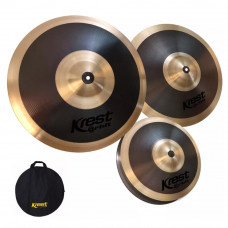Kit De Pratos Krest Orbit Series 14 Hh + 16cr + 20ri + Bag