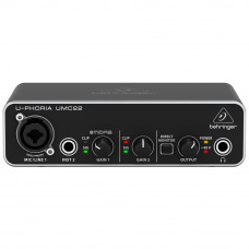 Behringer U-Phoria UMC22 Interface de Áudio USB 2x2