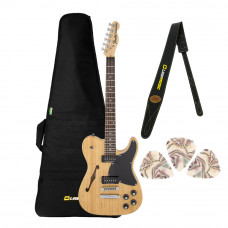 Kit Guitarra Fender Sig Series Jim Adkins JA-90 Telecaster Thinline Natural com Bag + Correia + Palhetas